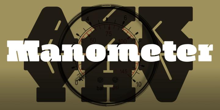 Manometer [2 Fonts]   The Fonts Master