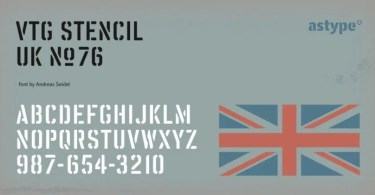 Vtg Stencil Uk No. 76 [4 Fonts] | The Fonts Master