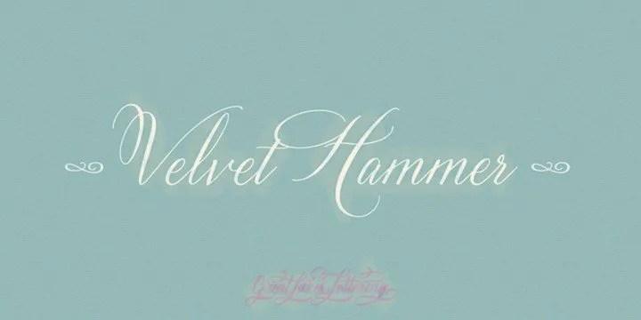 Velvet Hammer [1 Font] | The Fonts Master
