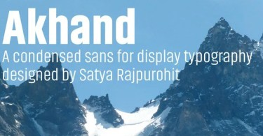 Akhand [8 Fonts] | The Fonts Master