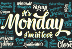 Monday [3 Fonts] | The Fonts Master