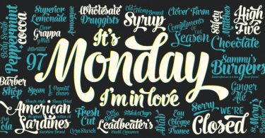 Monday [3 Fonts]   The Fonts Master