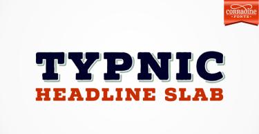 Typnic Headline Slab [6 Fonts]   The Fonts Master