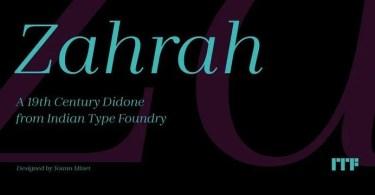 Zahrah [10 Fonts] | The Fonts Master