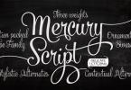 Mercury Script [6 Fonts] | The Fonts Master