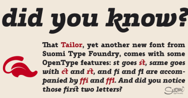 Tailor [2 Fonts]