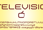 Televisio [1 Font] | The Fonts Master