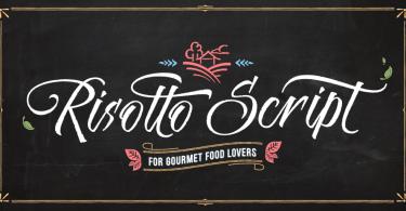 Risotto Script [1 Font] | The Fonts Master