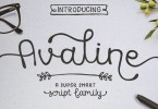 Avaline Script Super Family [10 Fonts] | The Fonts Master