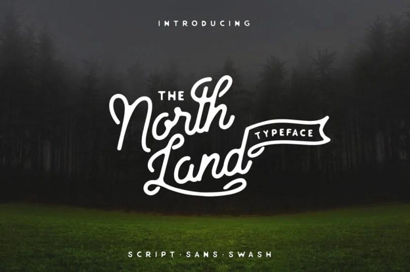 North Land Typeface Font Bundle [3 Fonts + Extras]   The Fonts Master