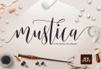 Mustica Script [2 Fonts] | The Fonts Master