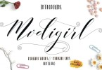 Modigirl Script [3 Fonts] | The Fonts Master