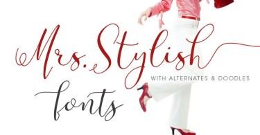 Mrs Stylish [8 Fonts] | The Fonts Master