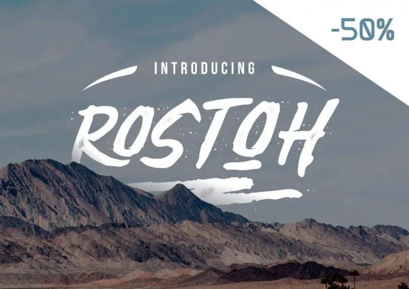 Rostoh [1 Font]   The Fonts Master