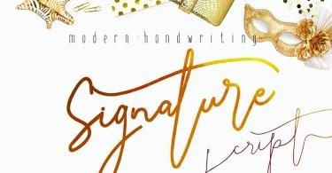 Signature Script Modern Handwriting [3 Fonts] | The Fonts Master