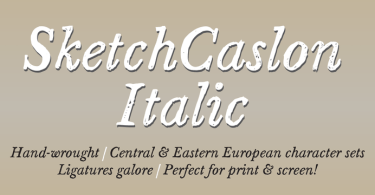 Sketch Caslon Italic [1 Font] | The Fonts Master