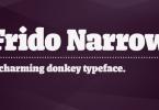 Frido Narrow [1 Font] | The Fonts Master