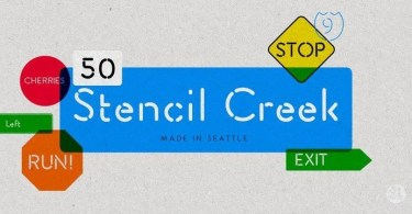 Stencil Creek [10 Fonts] | The Fonts Master