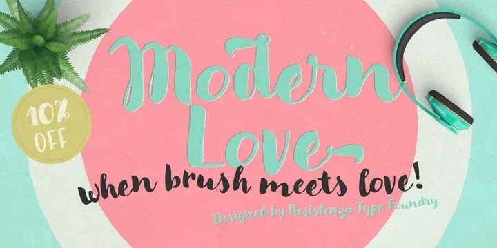 Modern Love [4 Fonts]   The Fonts Master