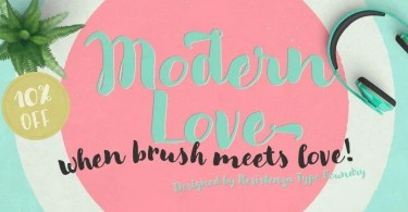 Modern Love [4 Fonts] | The Fonts Master