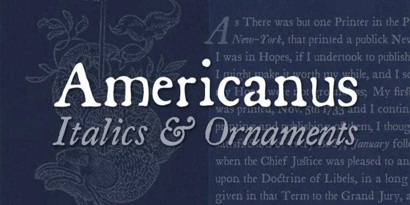 Americanus [5 Fonts]   The Fonts Master