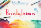 Brushylicious [1 Font] | The Fonts Master
