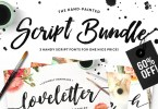 The Brush Script Bundle [3 Fonts + Extras] | The Fonts Master