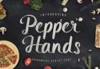 Pepper Hands [1 Font] | The Fonts Master