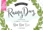 Rainy Day [4 Fonts] | The Fonts Master