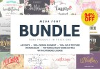 Mega Handmade Font Bundle [47 Fonts + Extras] | The Fonts Master