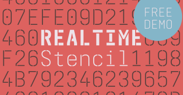 Realtime Stencil [6 Fonts] | The Fonts Master