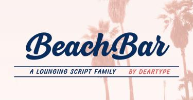 Beachbar Super Family [18 Fonts] | The Fonts Master