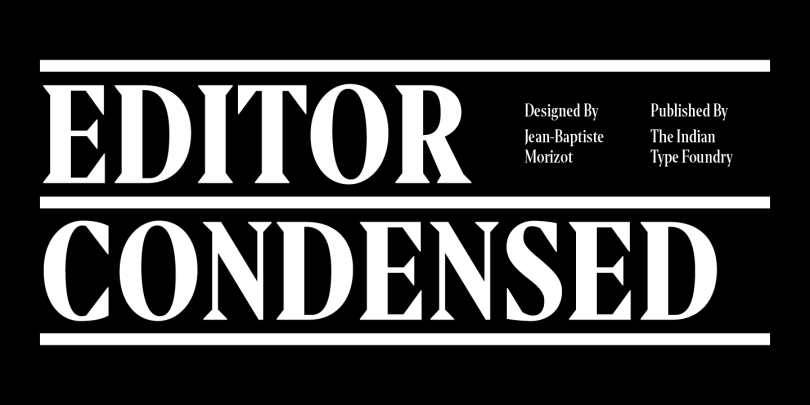 Editor Condensed [5 Fonts] | The Fonts Master