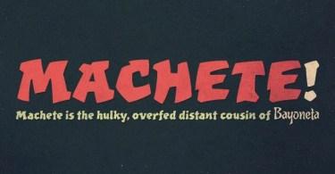 Machete Pro [1 Font] | The Fonts Master