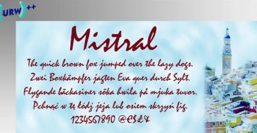 Mistral [1 Font] | The Fonts Master