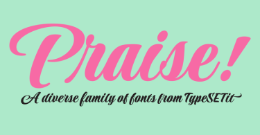 Praise [8 Fonts] | The Fonts Master