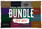 Fresh Pressed Fonts Bundle [35 Fonts] | The Fonts Master