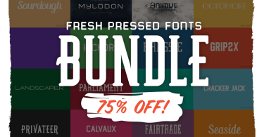 Fresh Pressed Fonts Bundle [35 Fonts]