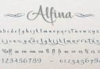 Alfina [1 Font] | The Fonts Master