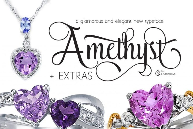 Amethyst + Extras [2 Fonts + Extras] | The Fonts Master