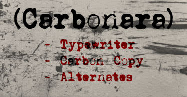Carbonara [3 Fonts] | The Fonts Master