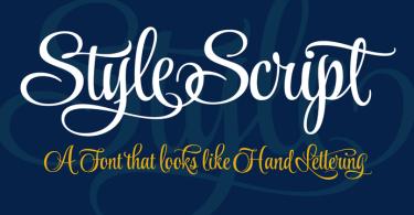 Style Script [9 Fonts]
