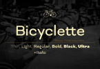 Bicyclette [7 Fonts] | The Fonts Master