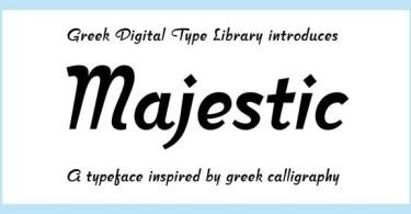 Cf Majestic [1 Font] | The Fonts Master