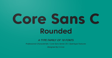 Core Sans Cr Super Family [18 Fonts] | The Fonts Master