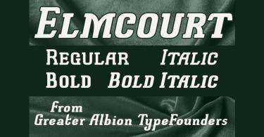 Elmcourt [4 Fonts] | The Fonts Master