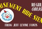 Amusement Ride Stencil Jnl [2 Fonts] | The Fonts Master