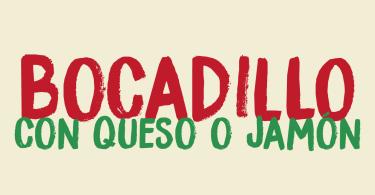Bocadillo [2 Fonts] | The Fonts Master