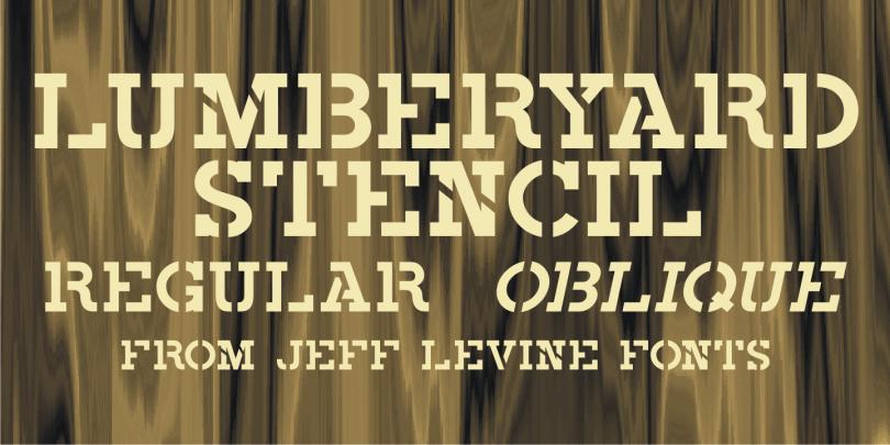 Lumberyard Stencil Jnl [2 Fonts] | The Fonts Master
