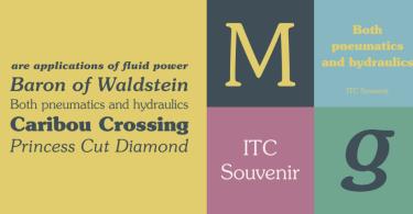Itc Souvenir Super Family [16 Fonts] | The Fonts Master
